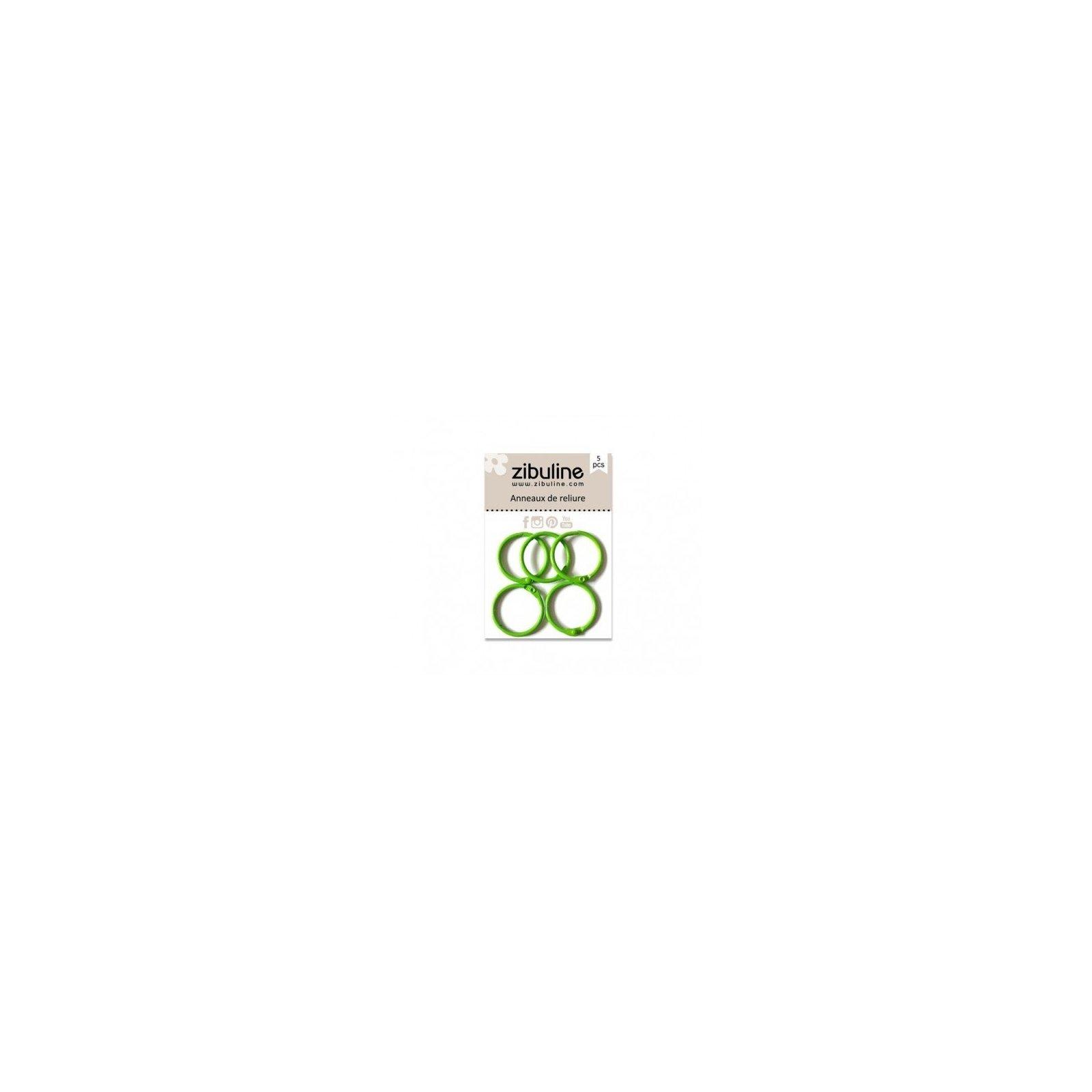 Anneaux de reliure 25 mm - Vert foncé - Zibuline