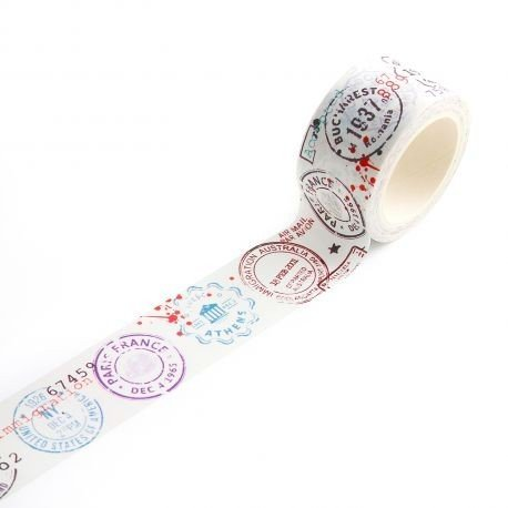 Masking tape - n°14 - Passport Stamps - AALL & Create