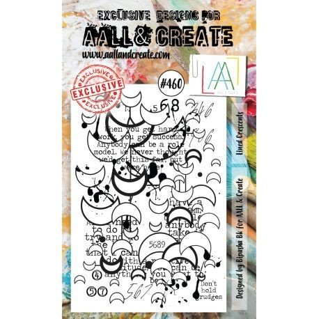 Tampon transparent - Lined Crescents - n°460 - AALL & Create
