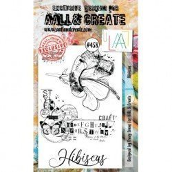 Tampon transparent - Hibiscus - n°458 - AALL & Create