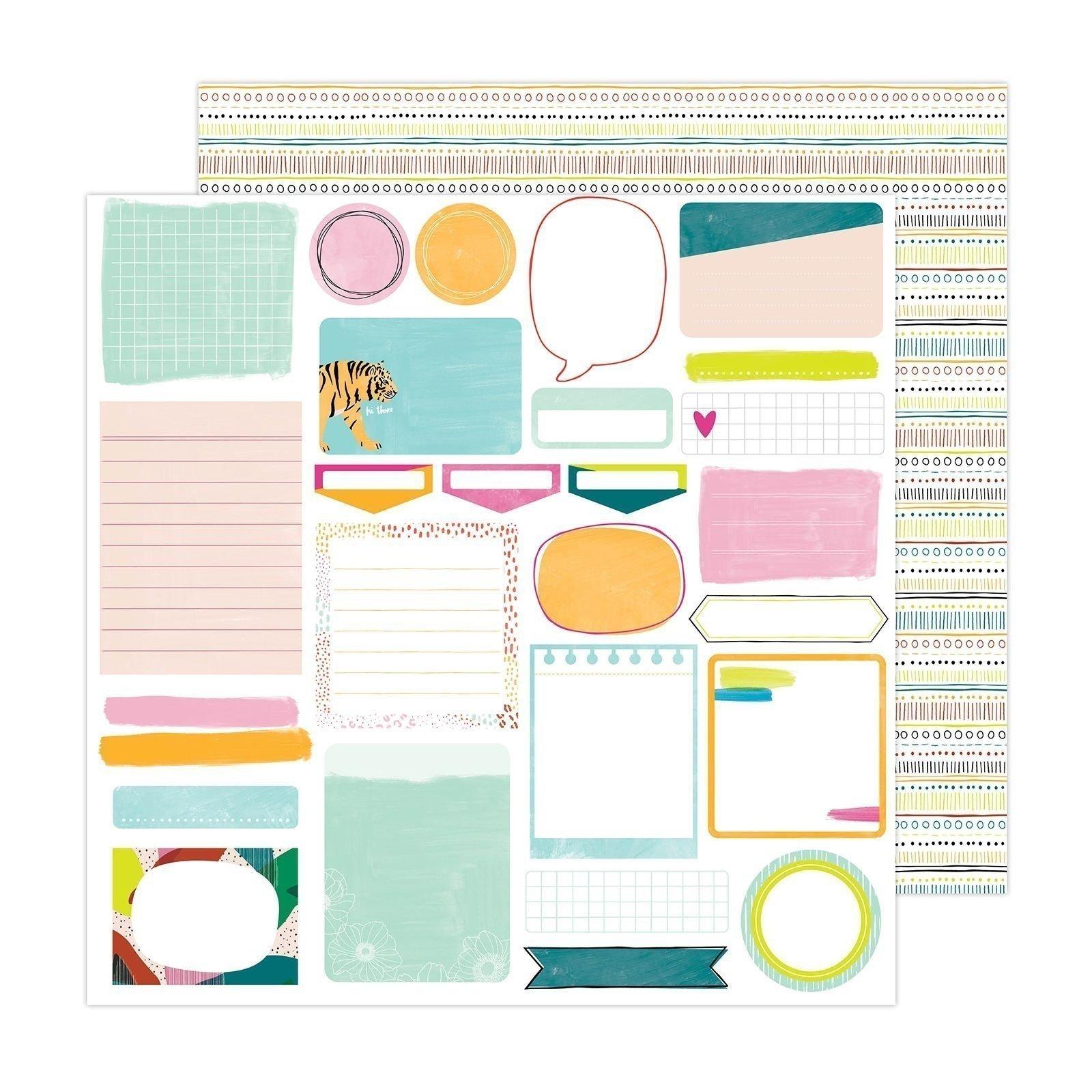 Papier 30 x 30 - Take note - Brave + Bold - Amy Tangerine