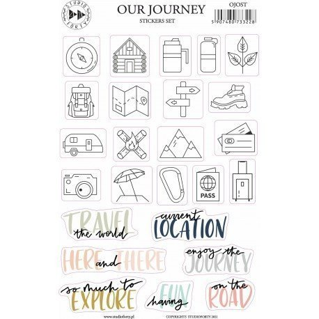 Stickers - Our Journey - Journal Stories - Studio Forty