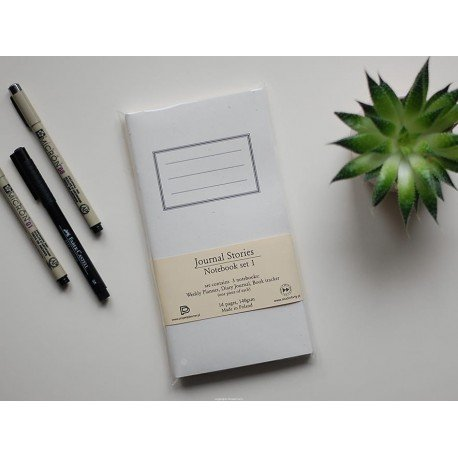 Notebook - Set 1 - Weekly, Diary, Book Tracker - Journal Stories - Studio Forty