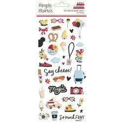 Stickers puffy - Say Cheese Main Street - Simple Stories