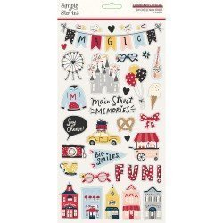 Chipboards Stickers - Say Cheese Main Street - Simple Stories