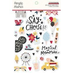 Sticker Book - Say Cheese Main Street - Simple Stories