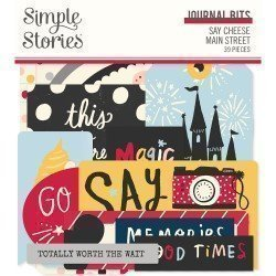 Die-cuts - Journaling - Say Cheese Main Street - Simple Stories