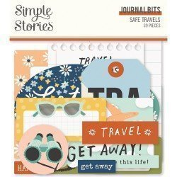 Die-cuts - Journaling - Safe Travel - Simple Stories