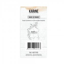 Tampon clear - Made in France - Bienvenue chez moi - Les ateliers de Karine