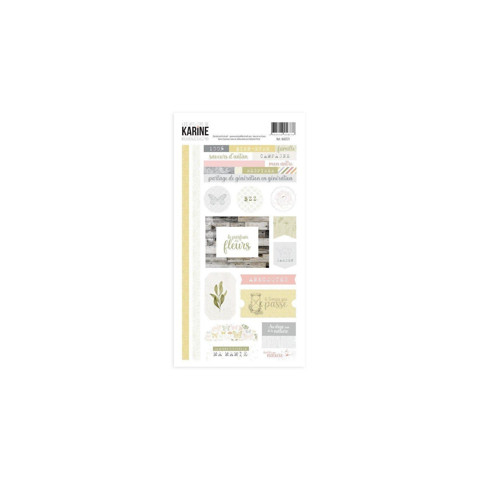Stickers - Bienvenue chez moi - Les ateliers de Karine