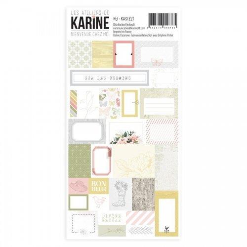 Stickers étiquettes - Bienvenue chez moi - Les ateliers de Karine