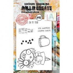 Tampon transparent - Coffe Time - n°417 - AALL & Create