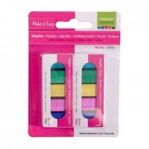 Agrafes colorées pour agrafeuse magnétique - Vaessen Creative