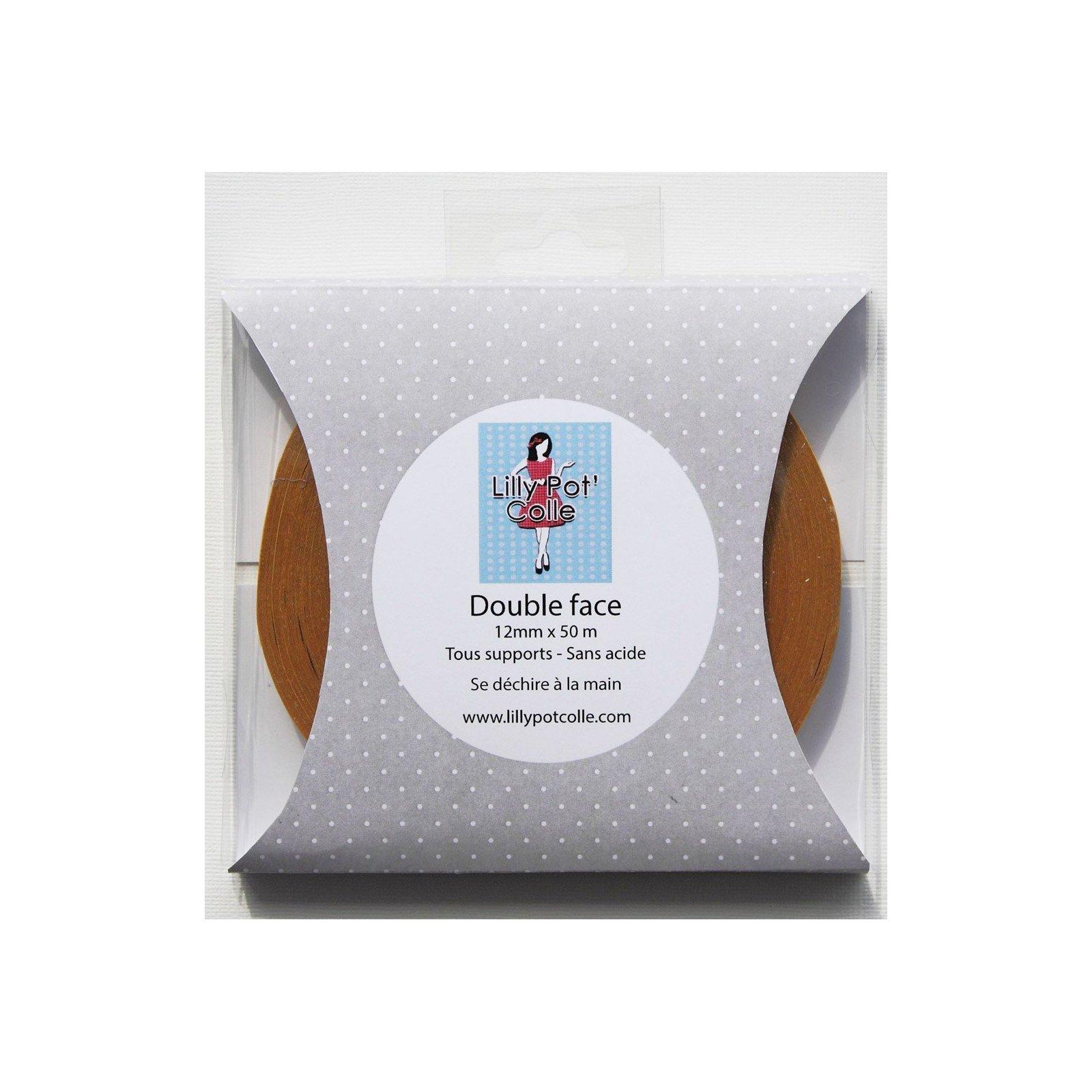 Rouleau adhésif double face 12mm x 50m - Lilly Pot'Colle