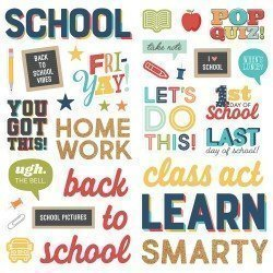 Stickers mousse - School Life - Simple Stories