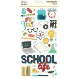 Chipboards Stickers - School Life - Simple Stories