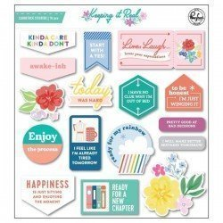 Chipboards stickers - Keeping it real - Pink Fresh Studio