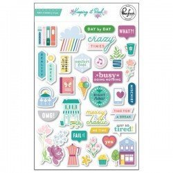 Puffy Stickers - Keeping it Real - Pink Fresh Studio