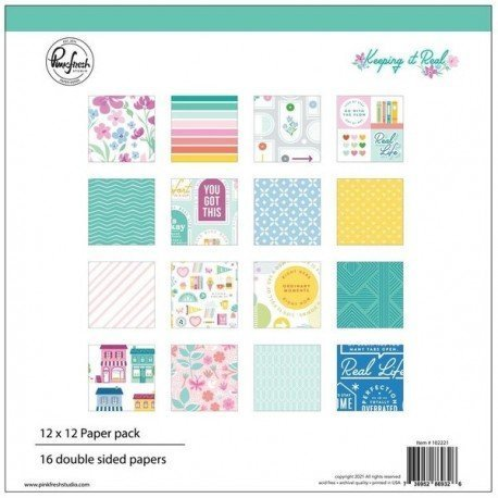 Collection de papiers - Keeping it Real - Pink Fresh Studio