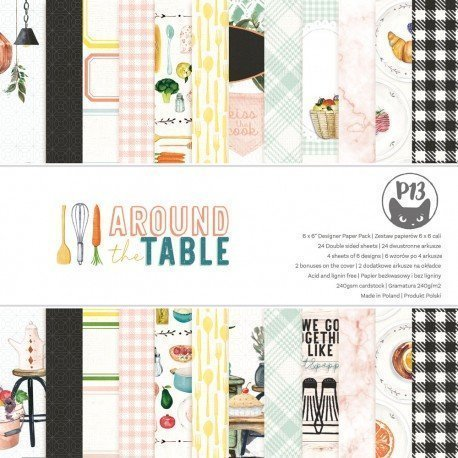 Paper pad 15x15 - Around the table - P13