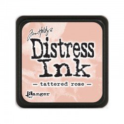 Mini encreur rose Distress - Tattered rose - Ranger