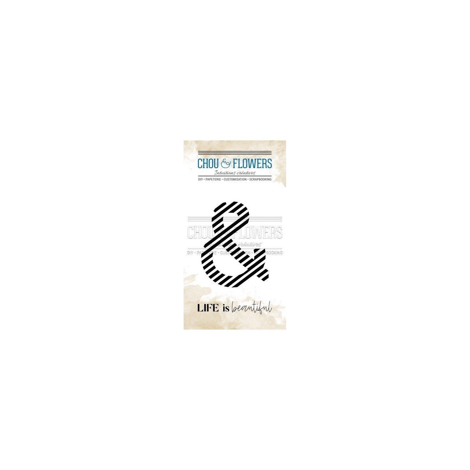 Tampon clear - Esperluette rayure - Voyage Imaginaire - Chou & Flowers