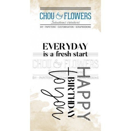 Tampon clear - Everyday - Voyage Imaginaire - Chou & Flowers