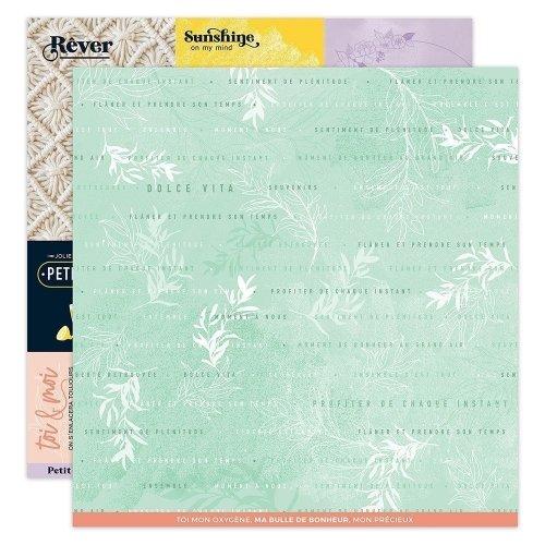 Papier imprimé 30x30 - n°7 - Dolce Vita - Florilèges Design