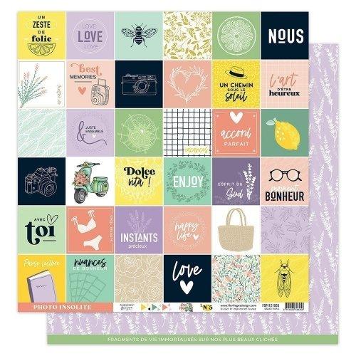 Papier imprimé 30x30 - n°5 - Dolce Vita - Florilèges Design