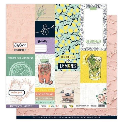 Papier imprimé 30x30 - n°3 - Dolce Vita - Florilèges Design
