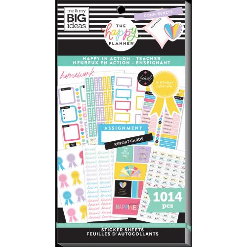 Sticker book - Happy In Action Teacher - Me & my big ideas