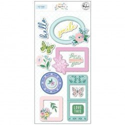 Cadres puffy - Happy Blooms - Pink Fresh Studio