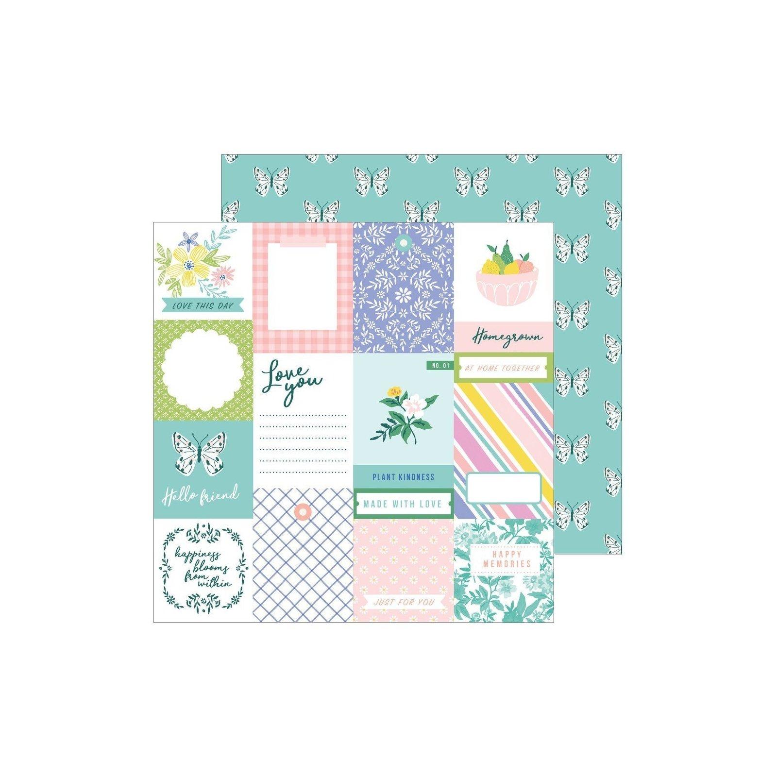 Papier 30x30 - Homegrown - Happy Blooms - Pink Fresh Studio