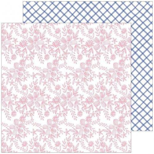 Papier 30x30 - Embroidered - Happy Blooms - Pink Fresh Studio