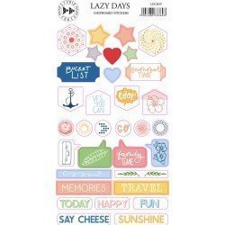 Chipboards Stickers - Lazy Days - Studio Forty