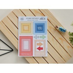 Chipboards Stickers Cadres - Lazy Days - Studio Forty