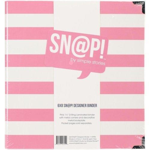 Album SN@P! rayé rose & blanc - 15x20 - Simple Stories