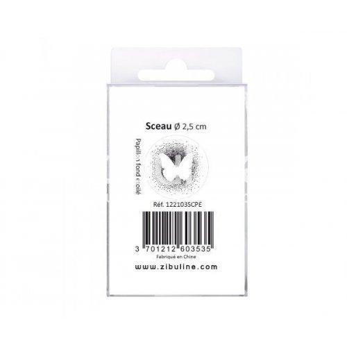 Sceau - Papillon fond étoilé - Cachet de cire - Zibuline