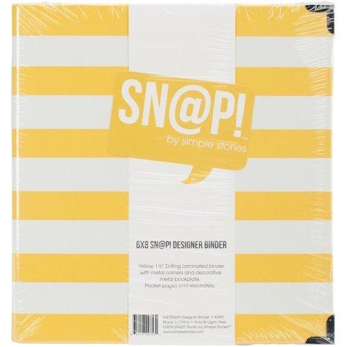 Album SN@P! rayé jaune & blanc - 15x20 - Simple Stories