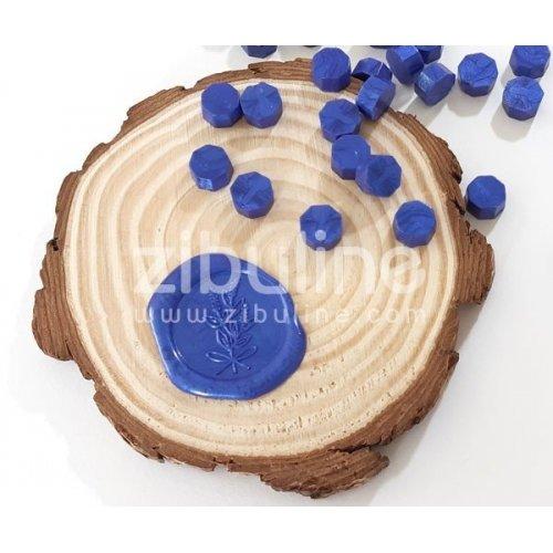 Pastilles de cire - Bleu roi nacré - Zibuline
