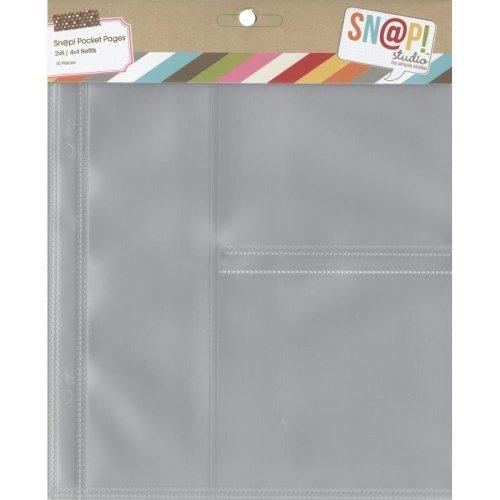 Pochettes Sn@P! Pocket pages 15x20 - 2 compartiments 10x10 et 1 compartiment 5x20 - Simple Stories
