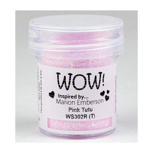 Poudre à embosser - Rose pailleté - Pink Tutu - WOW!