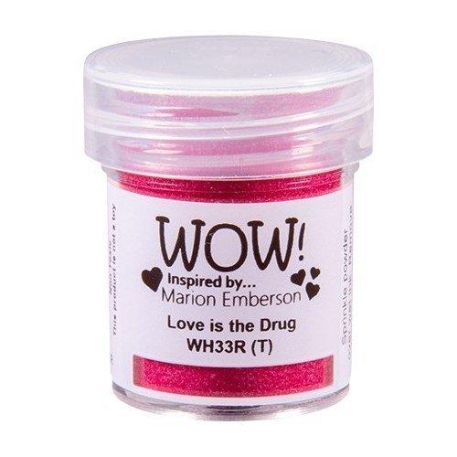 Poudre à embosser - Rose fuschia - Love is the drug - WOW!