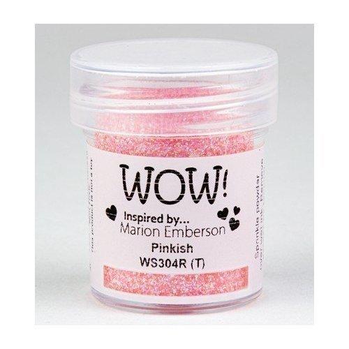 Poudre à embosser - Rose pailleté - Pinkish - WOW!
