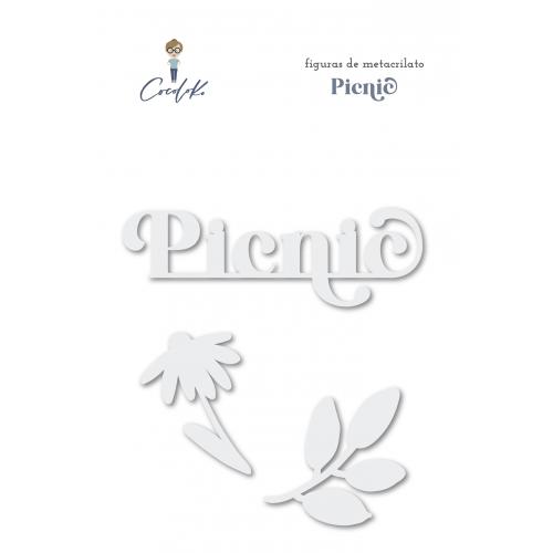 Décos acryliques blanches - Picnic - Cocoloko