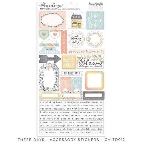 Stickers - These days - Cocoa Vanilla