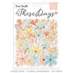 Die-cuts fleurs - These days - Cocoa Vanilla