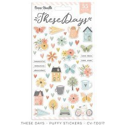 Stickers puffy - These days - Cocoa Vanilla