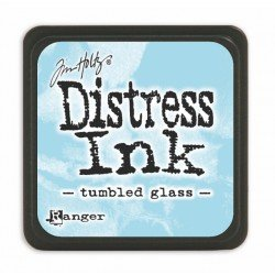 Mini encreur bleu ciel Distress - Tumbled glass - Ranger