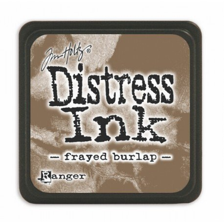 Mini encreur marron Distress - Frayed burlap - Ranger